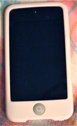 iPod touchの液晶の保護シールとシリコンケース
