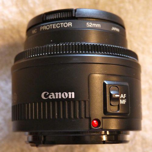 キャノンEF50mm F1.8 II 単焦点レンズ