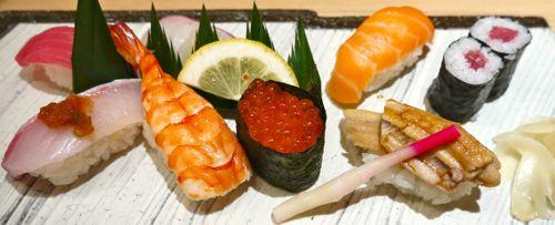 いくらやうなぎやサーモンなどの握り寿司