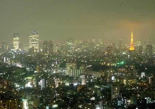 """""""恵比寿ガーデンプレイスの東天紅の夜景"""