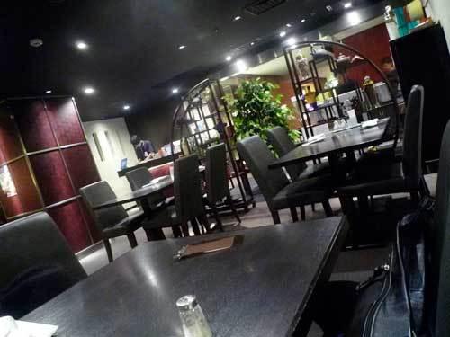 渋谷西武百貨店の中華料理の笑龍の店内