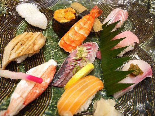 握り寿司のセット