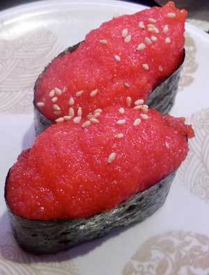 タラコのお寿司