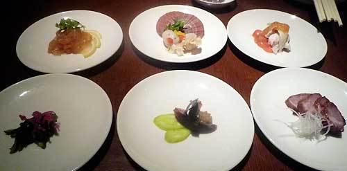 東天紅のコース料理の前菜の写真