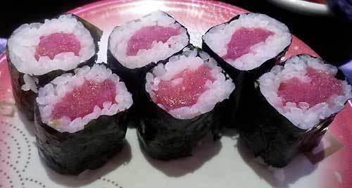 目黒の美登利寿司の鉄火巻き