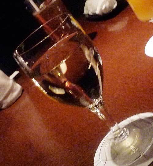 ウエルカムドリンクのワイン