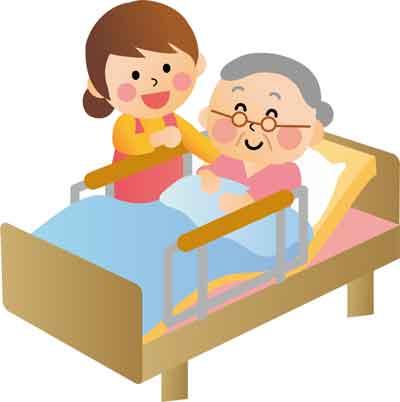 老人の介護の画像