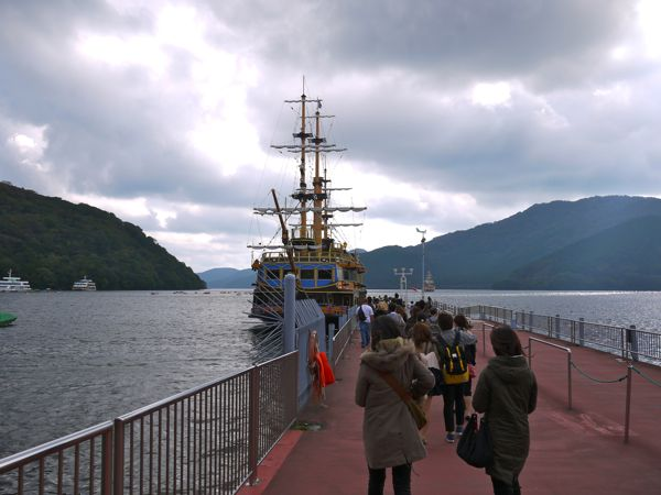 芦ノ湖の海賊船2