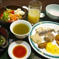 天成園の朝食ビュッフェ